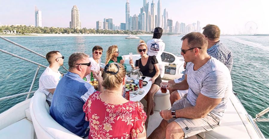 A Family Picnic on Board the Yacht Photo