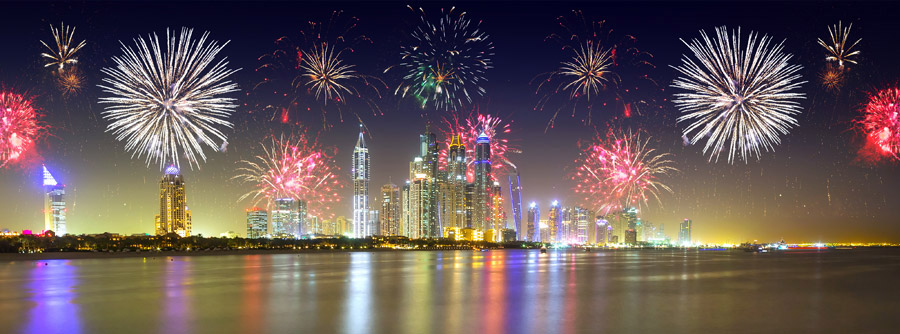 New year fireworks photo