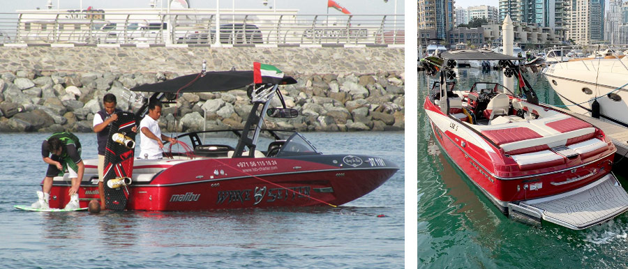 Boats and equipment for watersports in Dubai