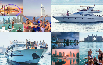 Rent yacht for Friday trip in Dubai with Luxury Sea Boats Charter LLC